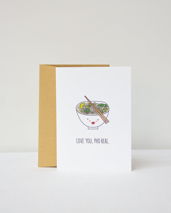 Love You Pho Real Card