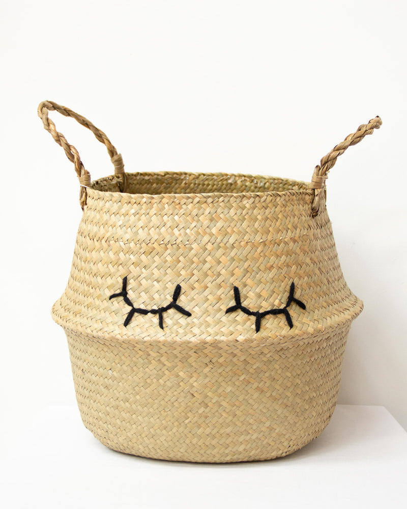Embroidered Belly Basket