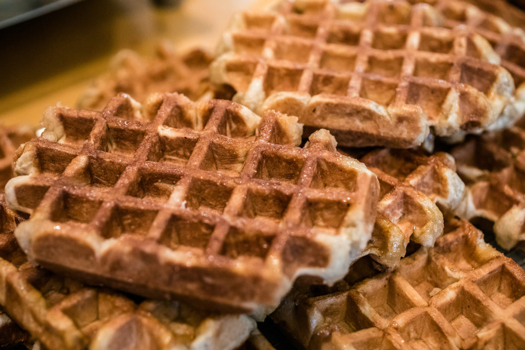 6 Pumpkin Waffles + 6 Chocolate Stuffed Waffles