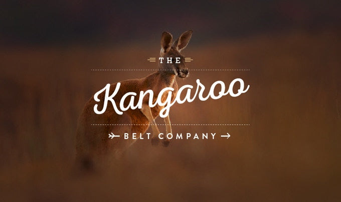 Kangaroo Leather Belt Company Logo