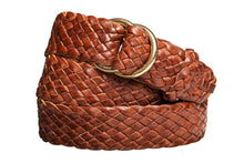 Load image into Gallery viewer, Braided Leather Belt - 9 Strand - Tan (thin) - The Kangaroo Belt Company