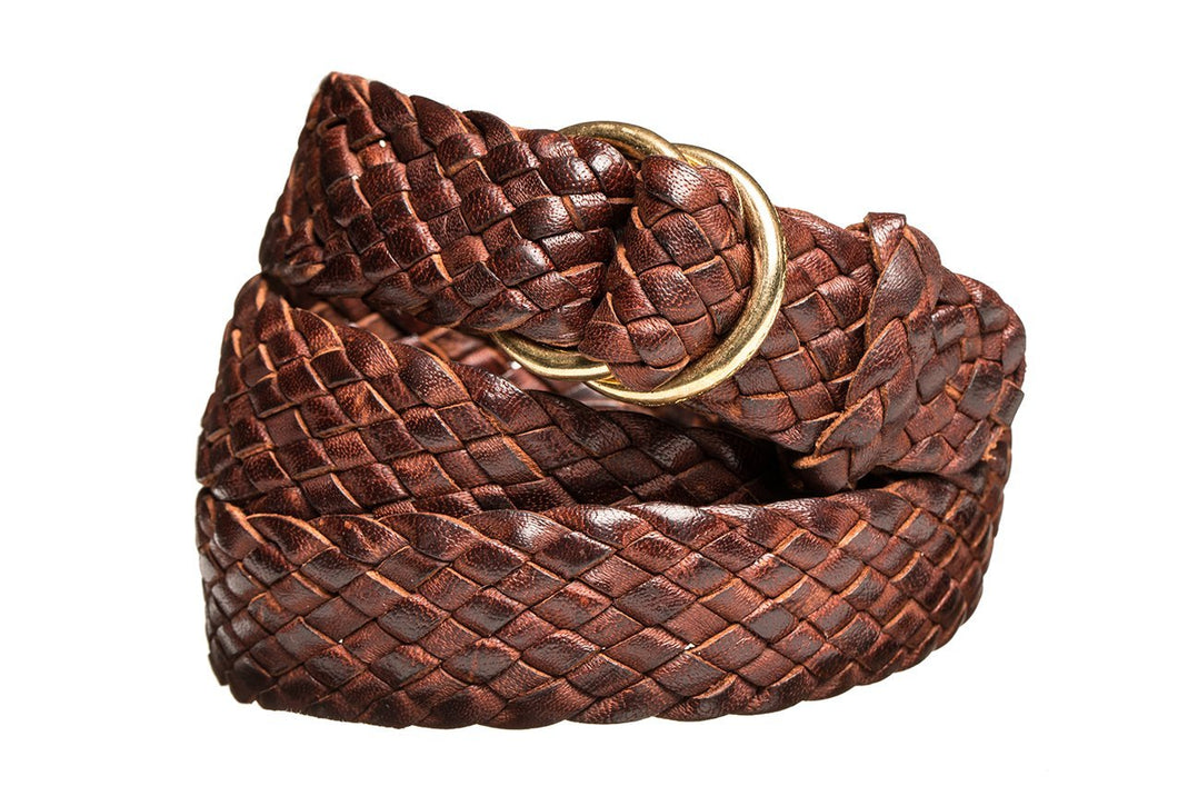 Leather Belt - 9 Strand - Dark Brown (thin) - The Kangaroo Belt Company