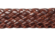 Load image into Gallery viewer, Leather Belt - 9 Strand - Dark Brown (thin) - The Kangaroo Belt Company