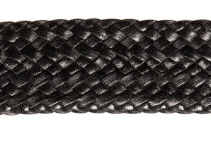 Leather Belt - 17 Strand - Black - The Kangaroo Belt Company