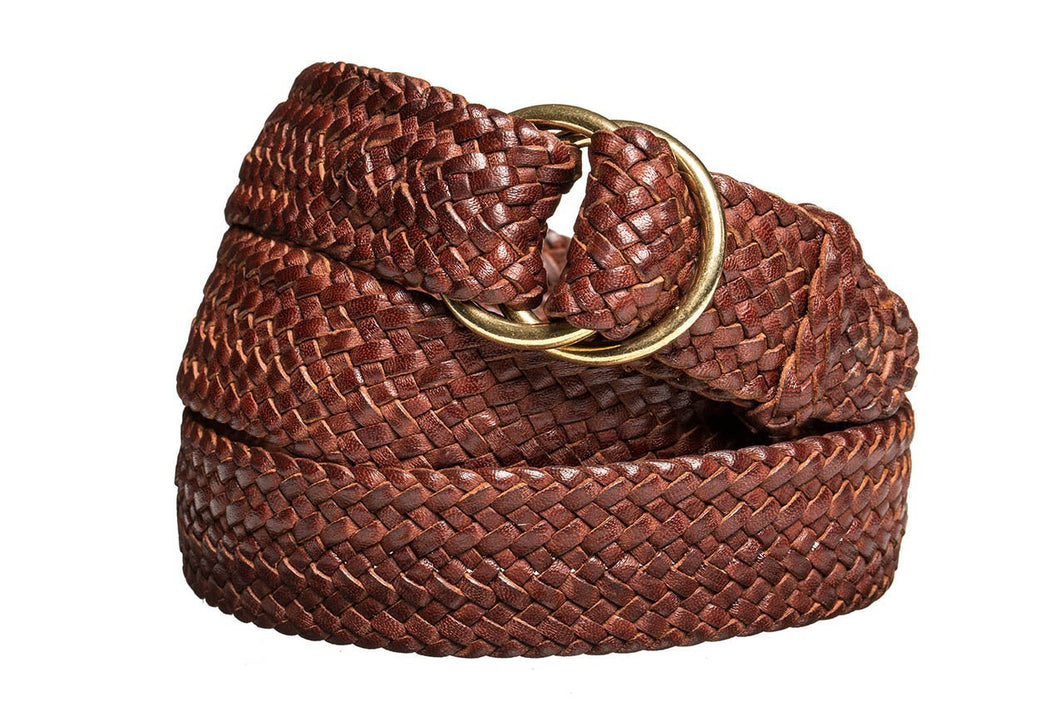 Leather Belt - 17 Strand - Dark Brown - The Kangaroo Belt Company