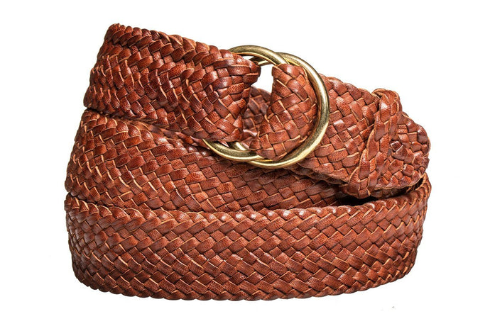 Leather Belt - 17 Strand - Tan - The Kangaroo Belt Company