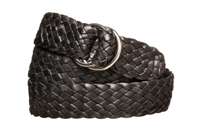 Leather Belt - 9 Strand - Black - The Kangaroo Belt Company