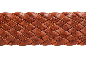 Leather Belt - 9 Strand - Tan - The Kangaroo Belt Company