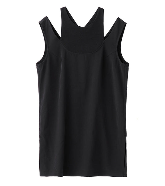 double tank top - black