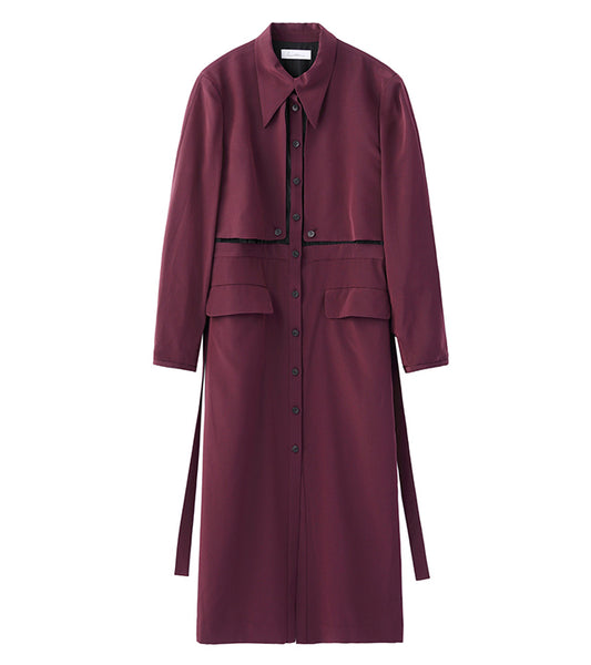 dress coat - purple