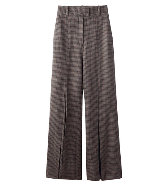 flare pants - brown