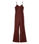 jump suit - brown