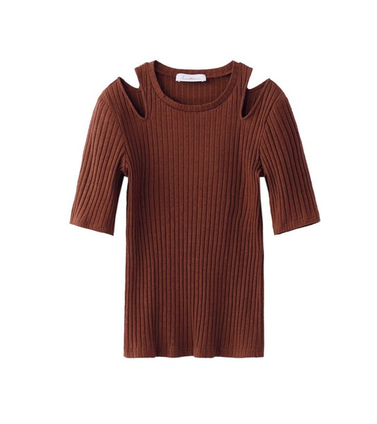 rib tops - brown