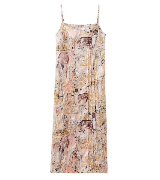 deer printed dress