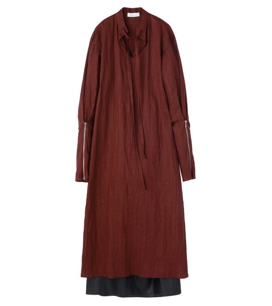 line dress - brown
