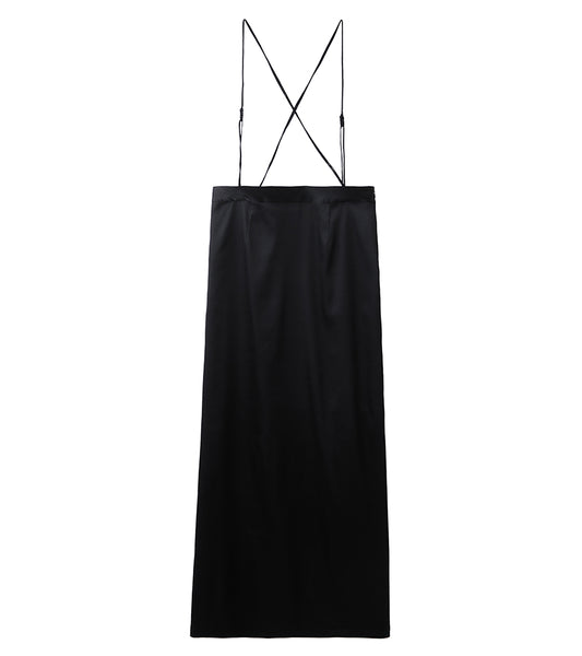 suspenders skirt - black