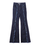 flared denim jeans - indigo
