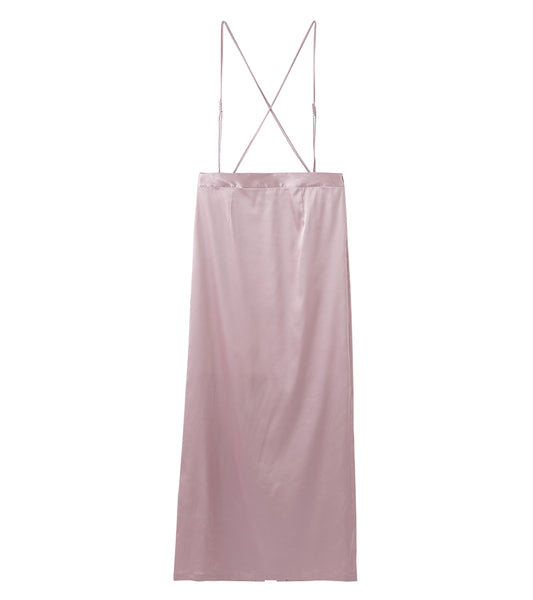 suspenders skirt - pink