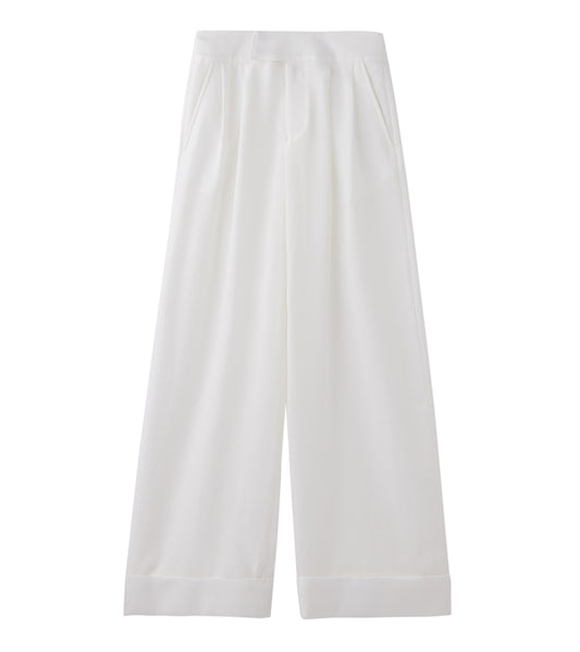 wide leg trousers - white
