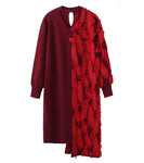 knit dress - red