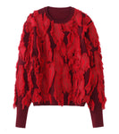 knit tops - red