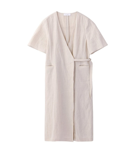 wrap dress - beige