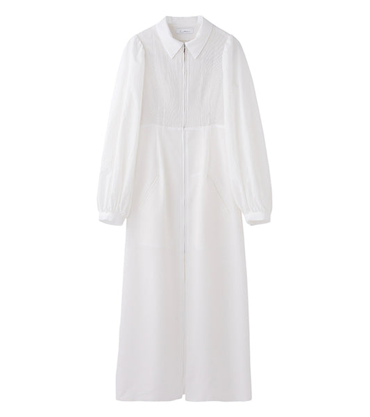 shirring coat - white