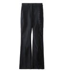 wood jaquard trousers - black