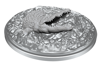 DUNGEONS AND DRAGONS: NOLZUR'S MARVELOUS UNPAINTED MINIATURES -W11-CROCODILE