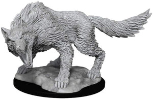 DUNGEONS AND DRAGONS: NOLZUR'S MARVELOUS UNPAINTED MINIATURES -W11-WINTER WOLF