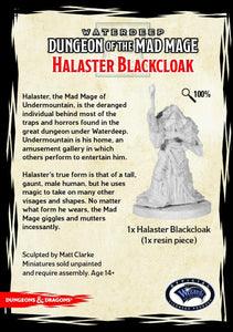 DUNGEONS AND DRAGONS: COLLECTOR SERIES - DUNGEON OF THE MAD MAGE - HALASTER BLACKCLOAK