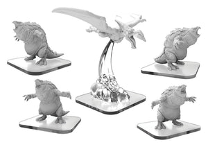 Monsterpocalypse: Terrasaurs Bellowers & Pteradactix Units (Resin and White Metal)