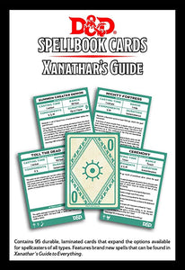 DUNGEONS AND DRAGONS SPELLBOOK CARDS XANATHAR'S GUIDE TO EVERYTHING