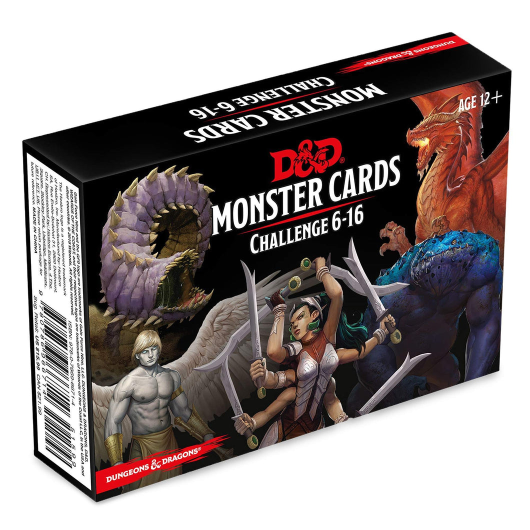 DUNGEONS AND DRAGONS MONSTER CARDS CHALLENGE 6-16
