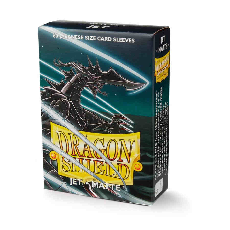 DRAGON SHIELD SLEEVES: JAPANESE MATTE JET (BOX OF 60)