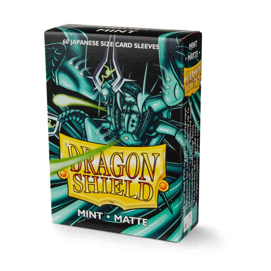 DRAGON SHIELD SLEEVES: JAPANESE MATTE MINT (BOX OF 60)