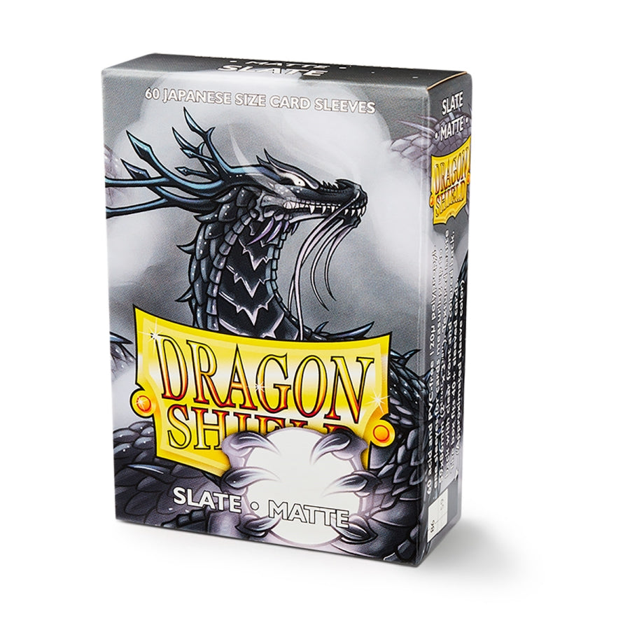 DRAGON SHIELD SLEEVES: JAPANESE MATTE SLATE (BOX OF 60)