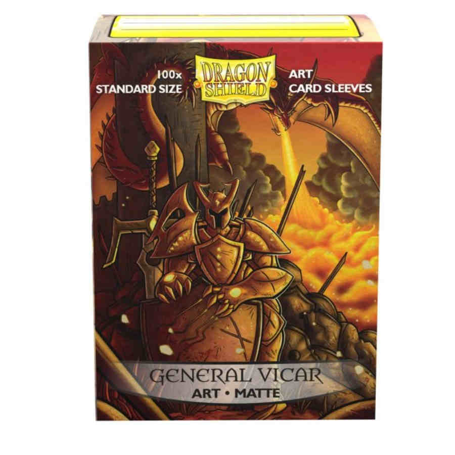 DRAGON SHIELD SLEEVES: MATTE ART GENERAL VICAR: PORTRAIT (BOX OF 100) - LIMITED EDITION