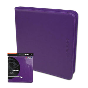 BCW SUPPLIES: Z-FOLIO - 12-POCKET LX PURPLE