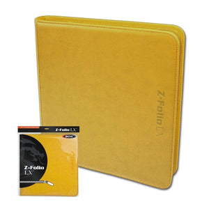 BCW SUPPLIES: Z-FOLIO - 12-POCKET LX YELLOW
