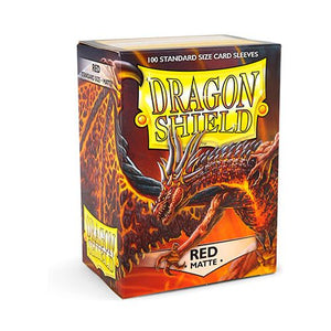 DRAGON SHIELD SLEEVES: MATTE RED (BOX OF 100)