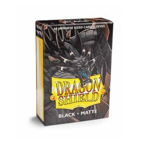 DRAGON SHIELD SLEEVES: JAPANESE MATTE BLACK (BOX OF 60)