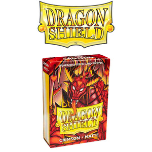 DRAGON SHIELD SLEEVES: JAPANESE MATTE CRIMSON (BOX OF 60)