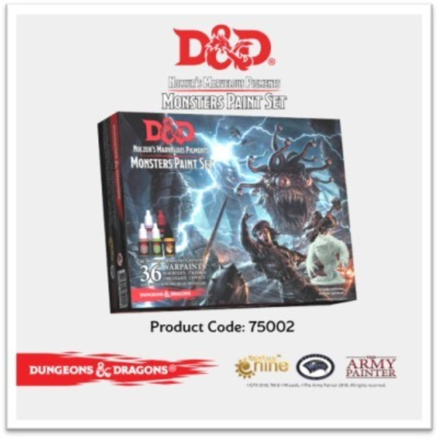 DUNGEONS AND DRAGONS: NOLZUR'S MARVELOUS PIGMENTS - MONSTERS PAINT SET