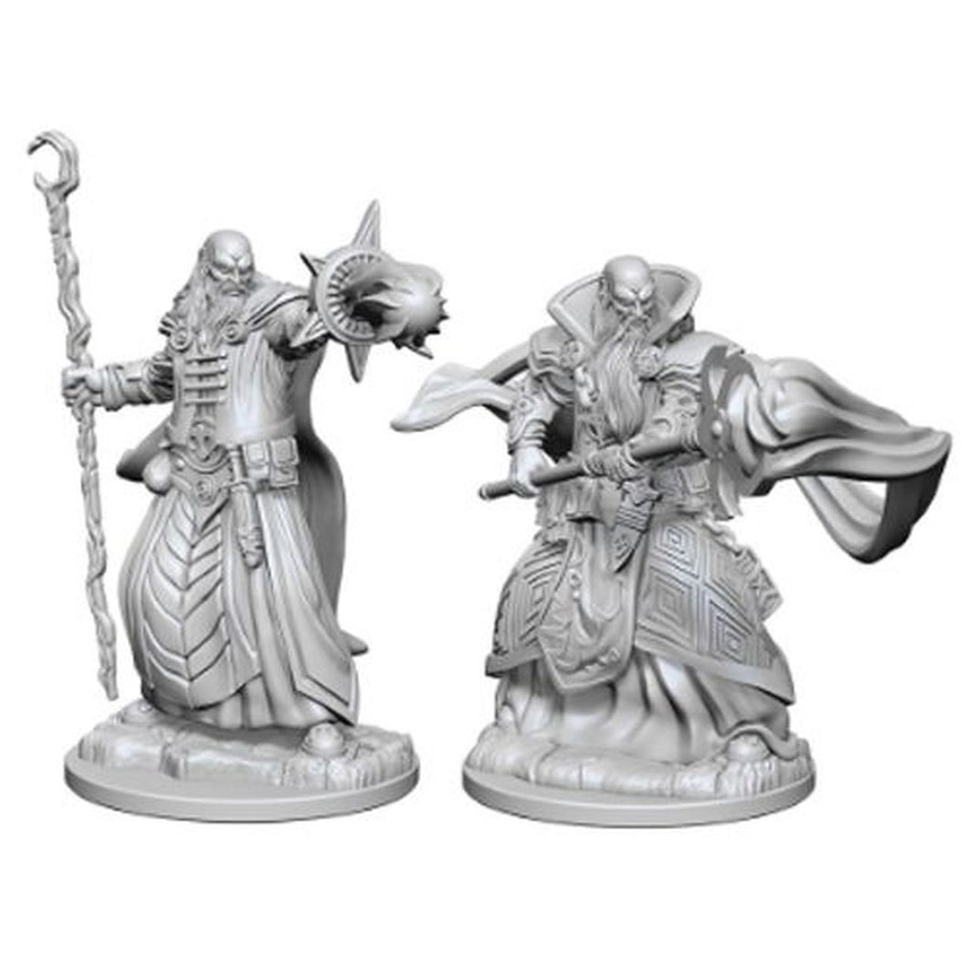 DUNGEONS AND DRAGONS: NOLZUR'S MARVELOUS UNPAINTED MINIATURES -W1-MALE HUMAN WIZARD