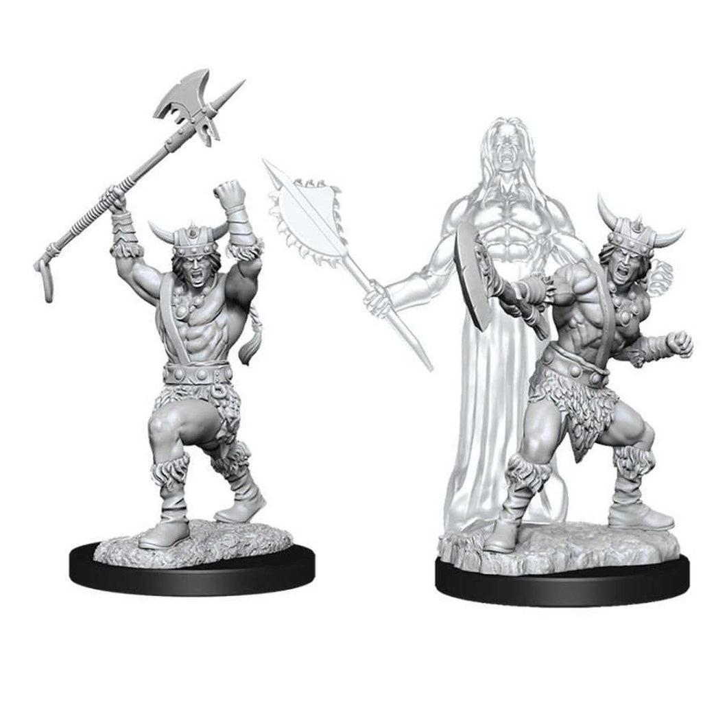 DUNGEONS AND DRAGONS: NOLZUR'S MARVELOUS UNPAINTED MINIATURES -W11-MALE HUMAN BARBARIAN