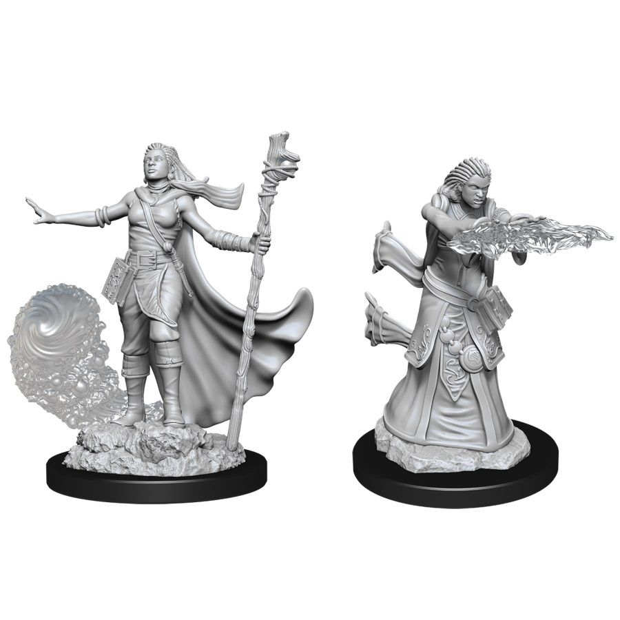 DUNGEONS AND DRAGONS: NOLZUR'S MARVELOUS UNPAINTED MINIATURES -W11-FEMALE HUMAN WIZARD