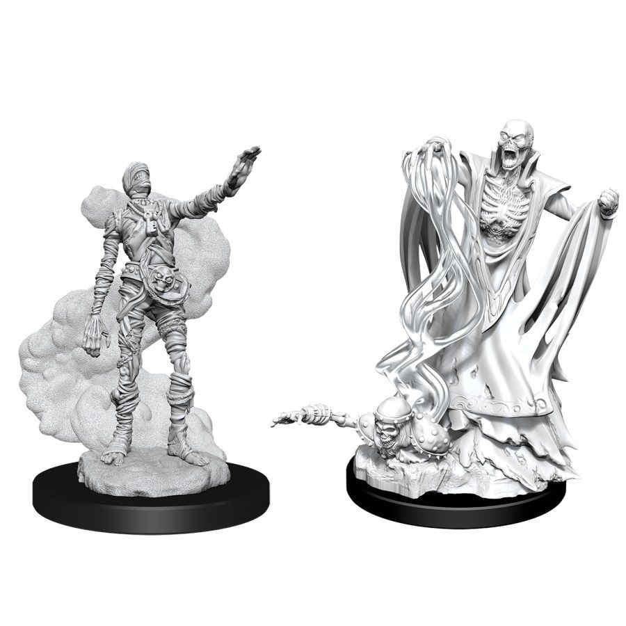 DUNGEONS AND DRAGONS: NOLZUR'S MARVELOUS UNPAINTED MINIATURES -W11-LICH AND MUMMY LORD