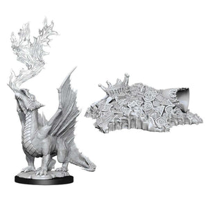 DUNGEONS AND DRAGONS: NOLZUR'S MARVELOUS UNPAINTED MINIATURES -W11-GOLD DRAGON WYRMLING