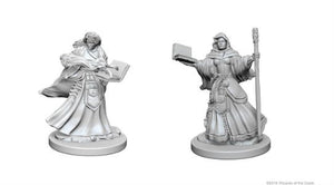 DUNGEONS AND DRAGONS: NOLZUR'S MARVELOUS UNPAINTED MINIATURES -W1-FEMALE HUMAN WIZARD